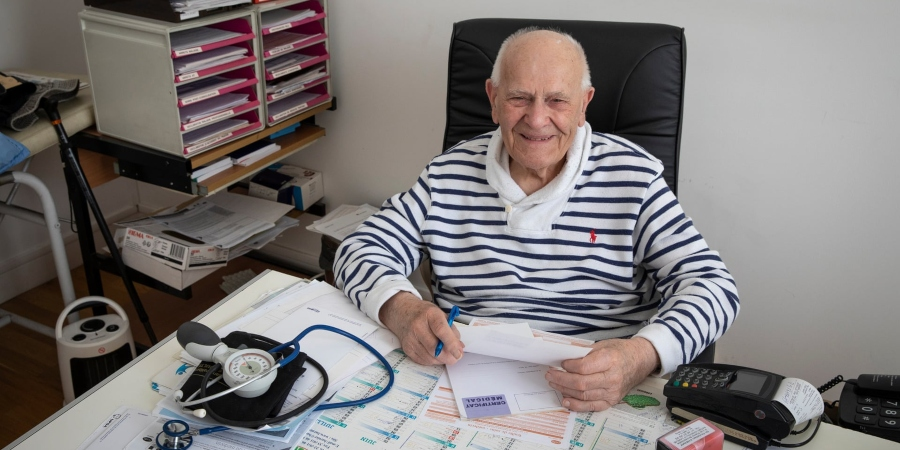 France's oldest doctor still treating patients at 98