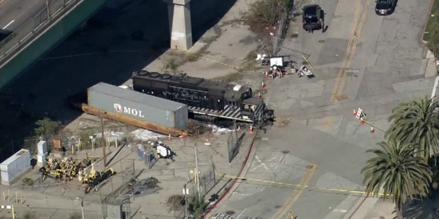 LA Engineer derails train near USNS Mercy, says he was suspicious of the ship's activities